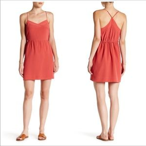 NWT Madewell Coral Color Silk Dress 10 & 12